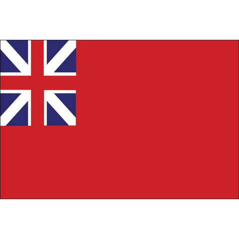 Collins/Eder Flag British Red Ensign 3 x 5 Nylon Dyed Flag (USA Made)