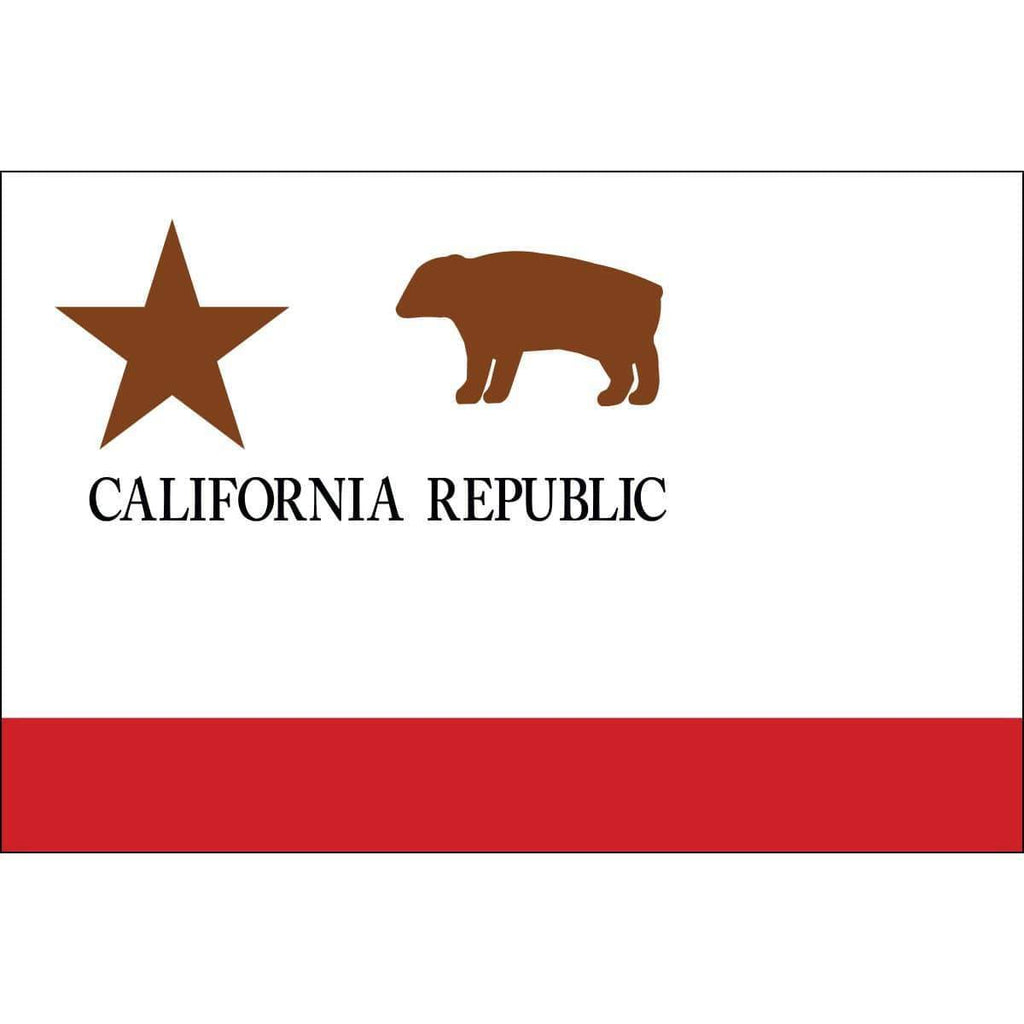 Collins/Eder Flag California Republic Flag 3 x 5 Nylon Dyed - Made in USA