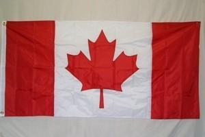 RU Flag Canada Flag - Nylon Embroidered Flag 3 x 6 ft.
