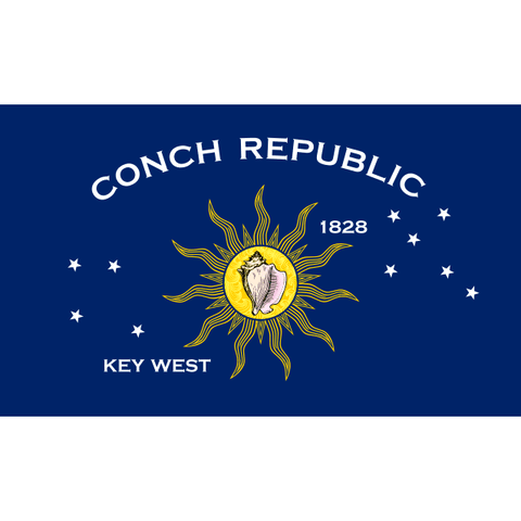 Image of RU Flag Conch Republic Flag - Key West Flag - 12 x 18 inch - grommets