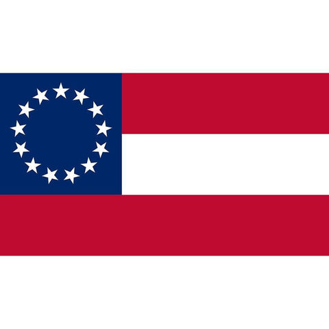 Image of RU Flag Confederate - First National Flag - CSA - 13 Stars and Bars Flag - 3 X 5 ft. - Standard