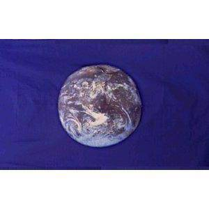 RU Flag Earth Flag (Blue) NASA photo Flag 3 X 5 ft. Standard Dbl Sided