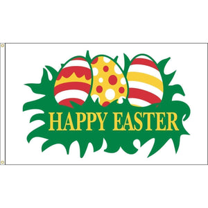 Eder Flag Easter Eggs Flag - Outdoor Commercial - 3 x 5 Nylon Dyed (USA Made)