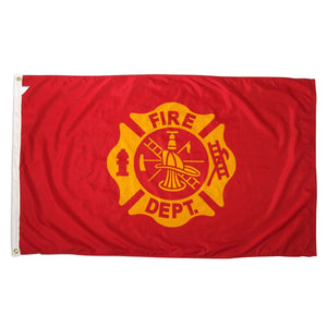 Fire Department Flag MALTESE CROSS Cotton Flag 5 x 9.5 ft.