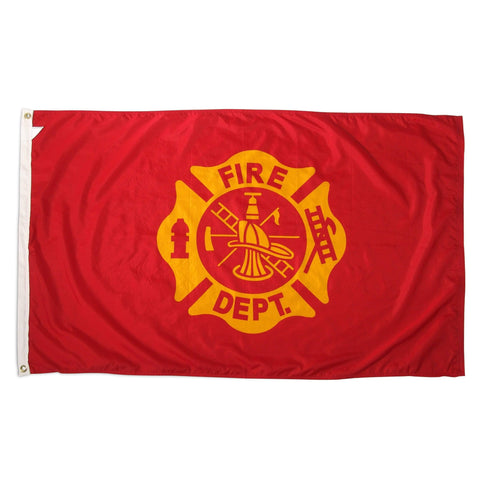 Image of vendor-unknown Flag Fire Department Cotton Flag 5 x 9.5 ft.