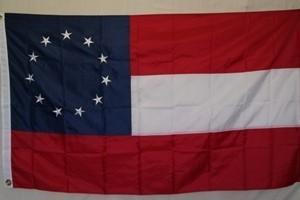 RU Flag First National 11 Stars Flag  Nylon Embroidered 3 x 5 ft.