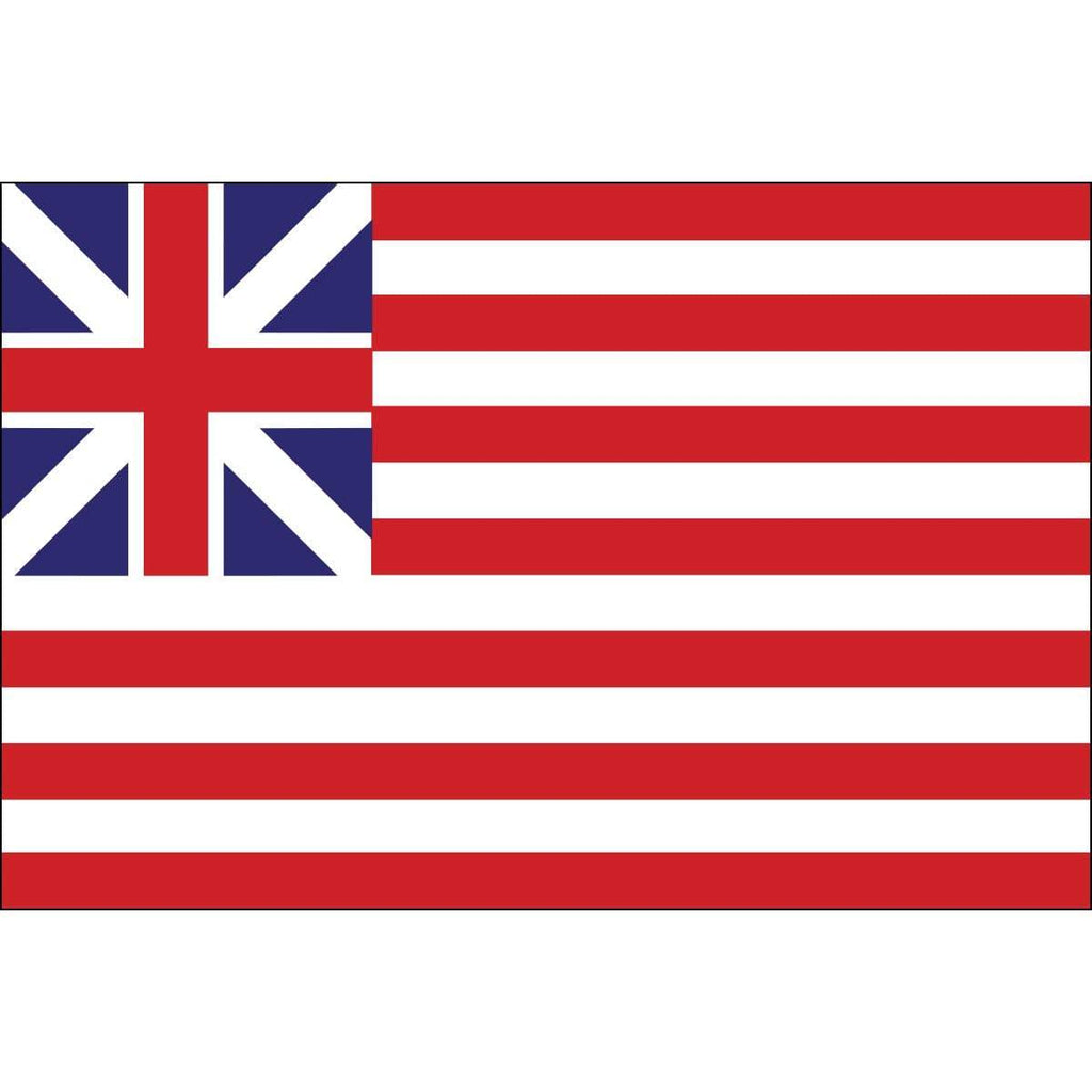 Eder Flag Grand Union Flag Continental Colors Sewn Nylon 4 X 6 ft.  (Made in USA)
