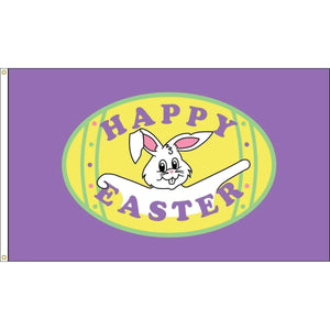Eder Flag Happy Easter Purple Flag - Outdoor Commercial - 3 x 5 Nylon Dyed (USA Made)