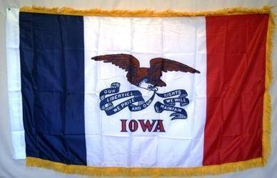RU Flag Iowa Printed Standard Flag 3 x 5 ft. with Fringes