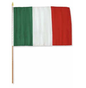 RU Flag Italy Flag 4 X 6 inch on stick