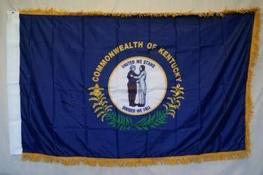 vendor-unknown Flag Kentucky Nylon Printed Flag 3 x 5 ft. with Fringes
