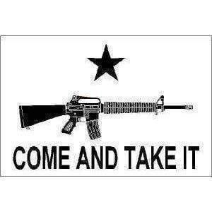vendor-unknown Flag M4 Carbine Come and Take It Flag 2 X 3 ft.