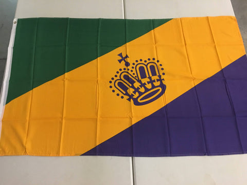 Mardi Gras Royal Crown Flag - Made in USA