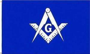 vendor-unknown Flag Masonic Blue Lamp; White Flag 3 X 5 ft. Standard