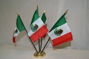 vendor-unknown Flag Mexico Flag 4 X 6 in on a stick