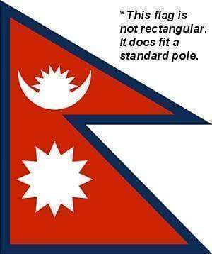 vendor-unknown Flag Nepal Flag 3 X 5 ft. Standard