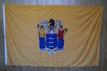 vendor-unknown Flag New Jersey Knitted Nylon 5 x 8 Flag