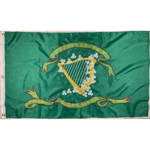 RU Flag Nylon Embroidered 300D Sons of Erin CSA Irish Flag, Irish Confederate Flag Nylon Embroidered 3 x 5 ft. (2ply available)
