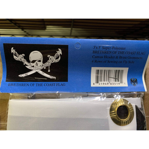 Image of RU Flag Pirate Brethren Of the Coast Jolly Roger Flag 3 X 5 ft. Standard