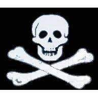 RU Flag Pirate Flag - Jolly Roger No Patch Flag 3 X 5 ft. Standard
