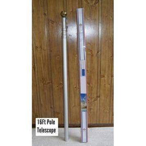 vendor-unknown Flag Pole 16ft Telescoping Flag Pole Set