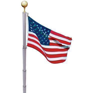 Image of Collins Flag Pole Not Included Telescoping Flag Pole Kit - 21 ft Aluminum Made in America