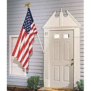 RU Flag Pole White Painted Steel / Included Flag Pole - 6ft. Outdoor Flag Mounting Kit flag pole (does not include flag)