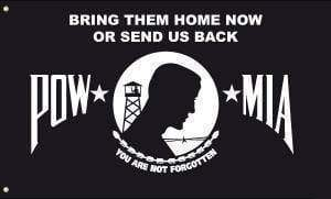 RU Flag POW MIA Bring Them Home Now or Send Us Back Flag 3 X 5 ft. Standard