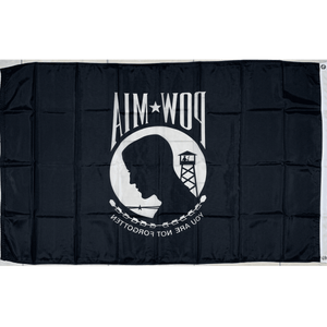 POW MIA Flag - Outdoor - 5' x 8' Poly-Max Flag (USA Made)