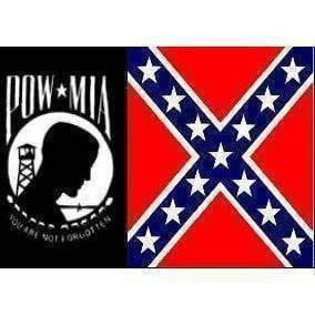 vendor-unknown Flag POW MIA Rebel Flag 3 X 5 ft. Standard