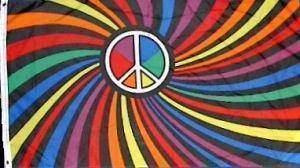vendor-unknown Flag Psychedelic Peace Swirl  Flag 3 X 5 ft. Standard