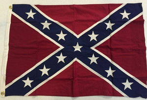 RU Flag Rebel Cotton Flag with Appliqued Stars 3 x 5 ft. antiqued