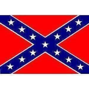 Rebel Flag, Confederate Battle Flag 12 x 18 inch on Stick