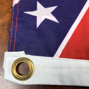 Rebel Flag -Confederate Battle Flag - 12 X 18 inch - with grommets Standard