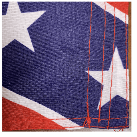 Image of RU Flag Rebel Flag -Confederate Battle Flag - 12 X 18 inch - with grommets Standard