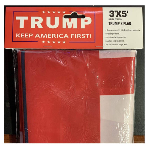Image of RU Flag Rough Tex 75D Medium Weight Trump Keep America Great  Flag -  MAGA 3 x 5 ft Nylon - Mueller Investigation
