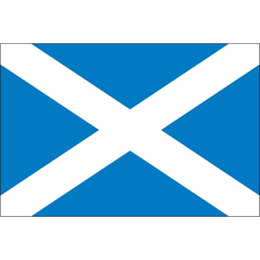 vendor-unknown Flag Scotland Flag - Outdoor - Commercial - St. Andrew's Cross 6 x 10 Nylon Dyed Flag (USA Made)