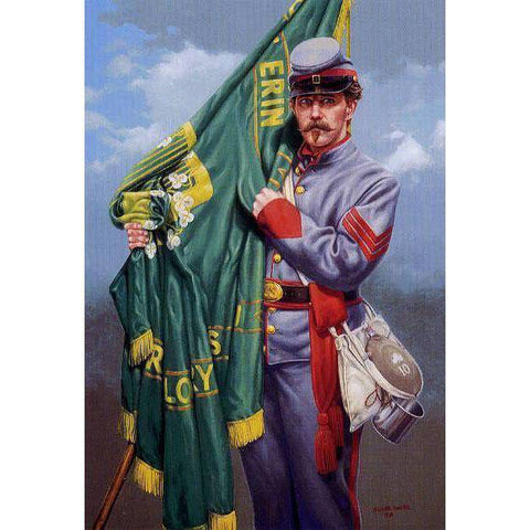 RU Flag Sons of Erin CSA Irish Flag, Irish Confederate Flag Nylon Embroidered 3 x 5 ft. (2ply available)