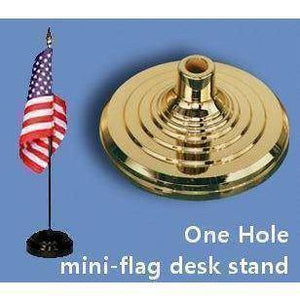 RU Flag Stand Desk Stand Flag Holder - 1 hole (gold)