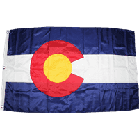 RU Flag State of Colorado Flag - Outdoor - Nylon Cut and Sewn  3 X 5 ft.