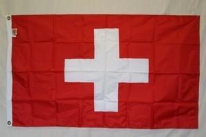 vendor-unknown Flag Switzerland Flag Nylon Embroidered 3 x 5 ft.