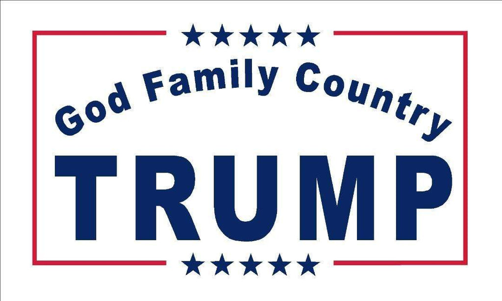 TFP Flag Trump Flag - God Family Country - 3x5 - Screen Printed (Made in USA)