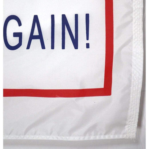 vendor-unknown Flag Trump Flag - Make America Great Again on White - 3x5 - Nylon Dyed (Made in USA)