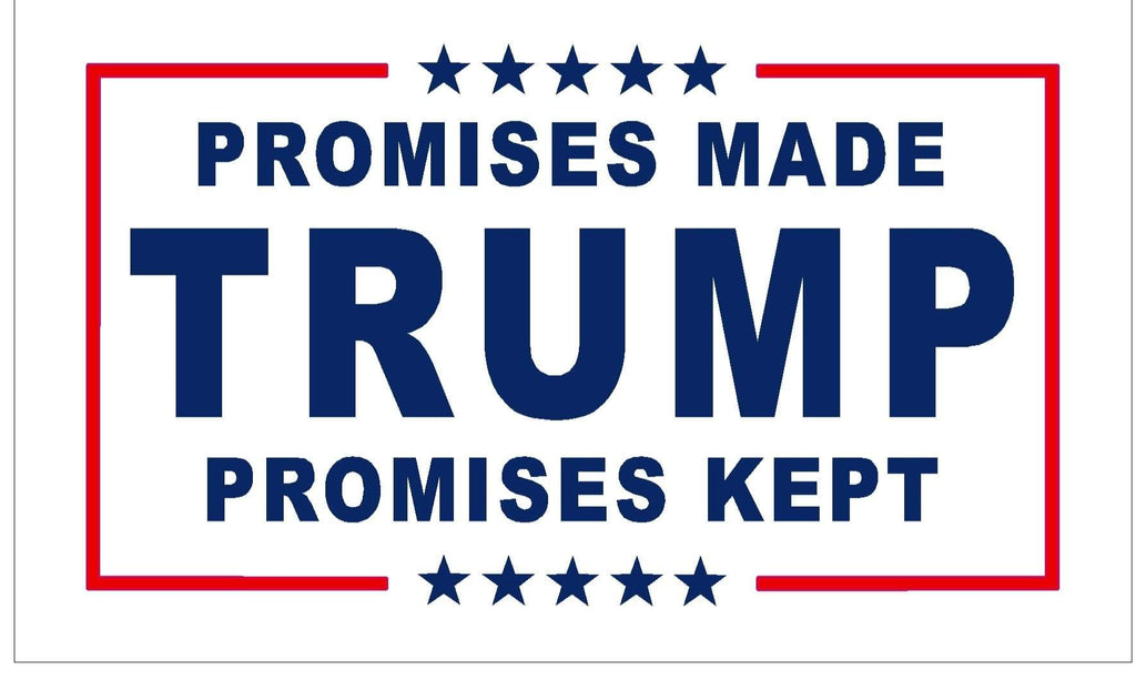 TFP Flag Trump Flag - Promises Kept - 3x5 - Screen Printed (Made in USA)
