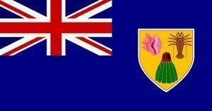 RU Flag Turks & Caicos Flag 4x6 inch on a stick