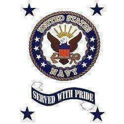 vendor-unknown Flag US Navy Served With Pride Flag 3 X 5 ft. Standard