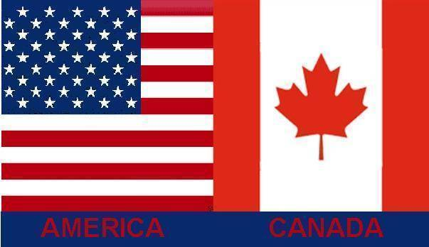 RU Flag USA & Canada Flag 3 X 5 ft. Standard