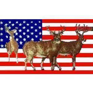 Galaxy Flag USA Deer Flag 3 X 5 ft. Standard