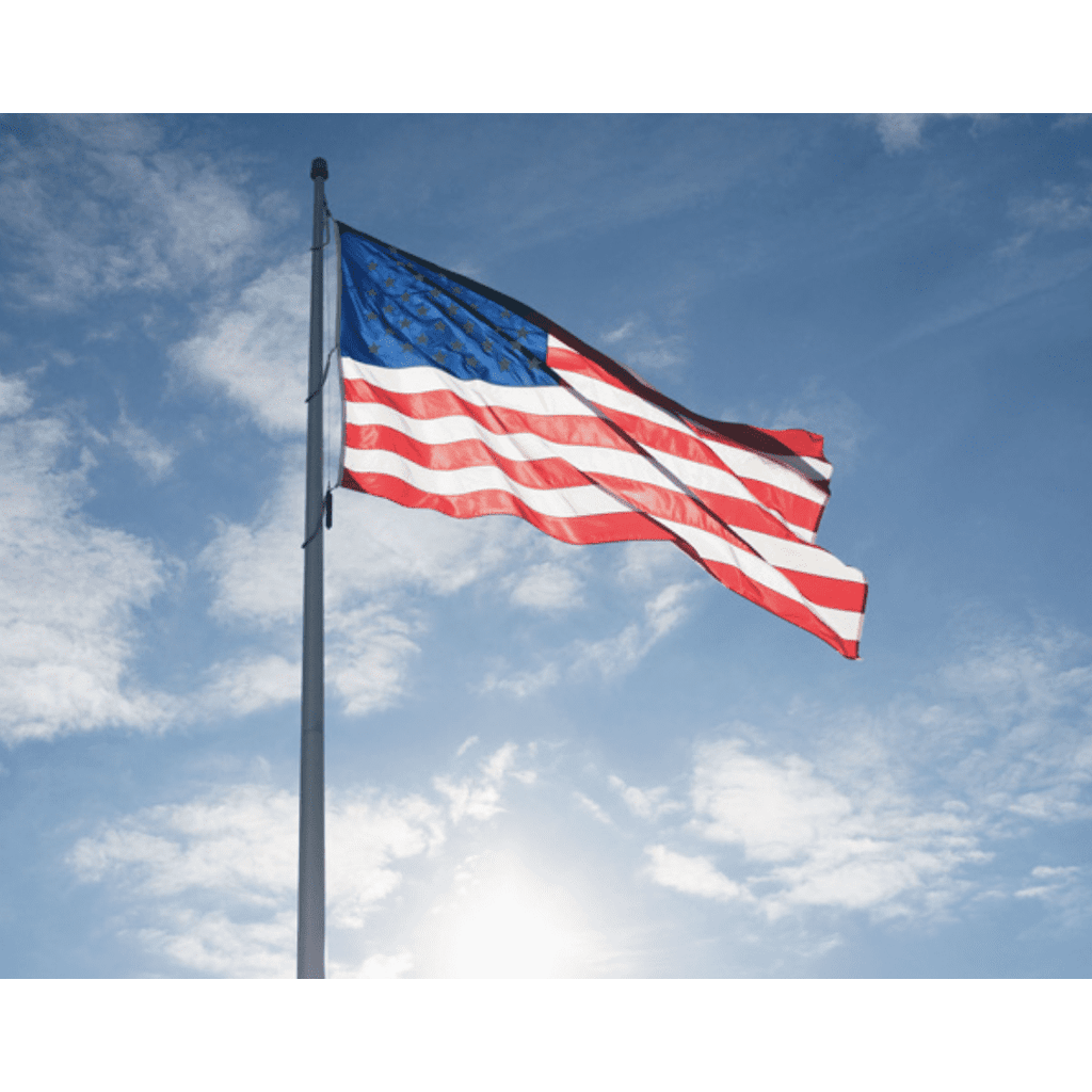 Collins/Eder Flag USA Flag-Commercial-Poly-Max Embroidered -3x5,4x6,5x8,6x10,50x80 ft (Made in America)