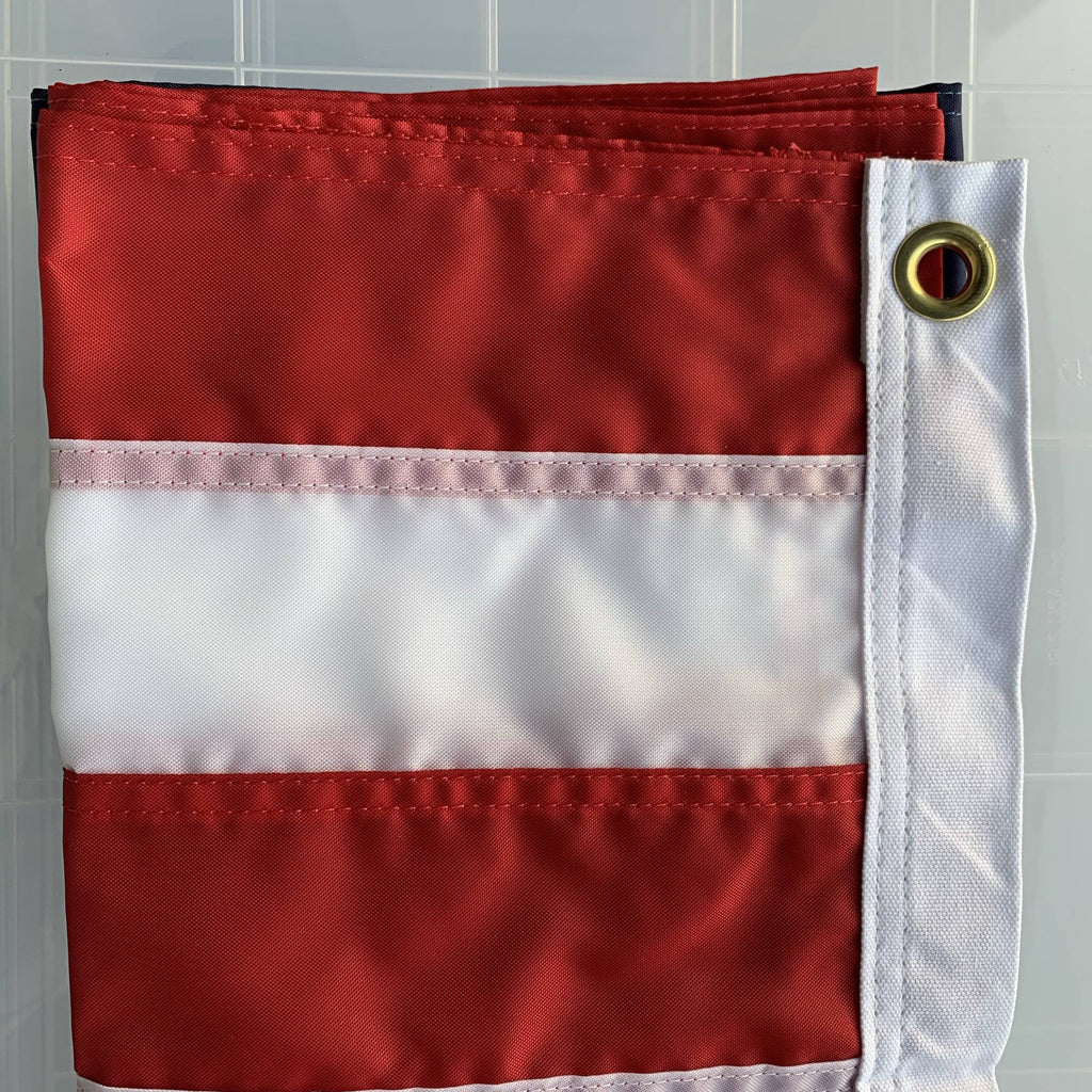 Eder Flag USA Flag - Outdoor- Endura Nylon Embroidered -2x3,3x5,4x6,6x10 (Made in America)